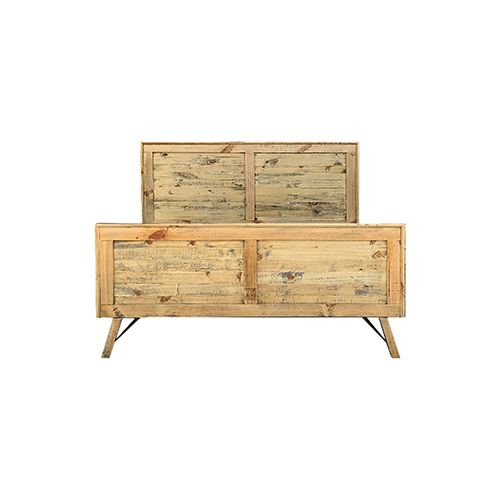 BALTIC BED FRAME- Queen Bed Ozzy Pine & Plywood Colour