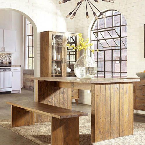 COSMO DINING TABLE WITH 2 BENCH TABLES