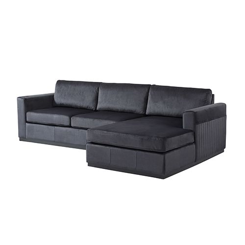 NAPLE 3 Seater Black Colour Sofa With Chaise