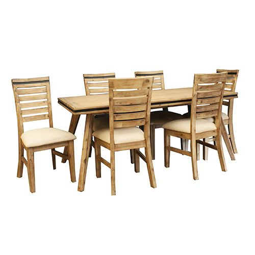 SHADES DINING TABLE WITH 6 CHAIRS