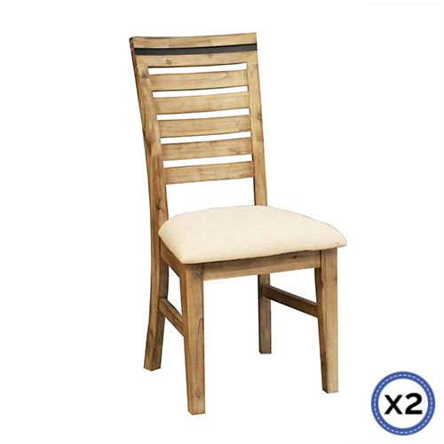 SHADES DINING CHAIRS X2
