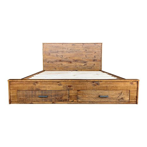 COSMO  Bed With Storage Drawer Rustic Colour