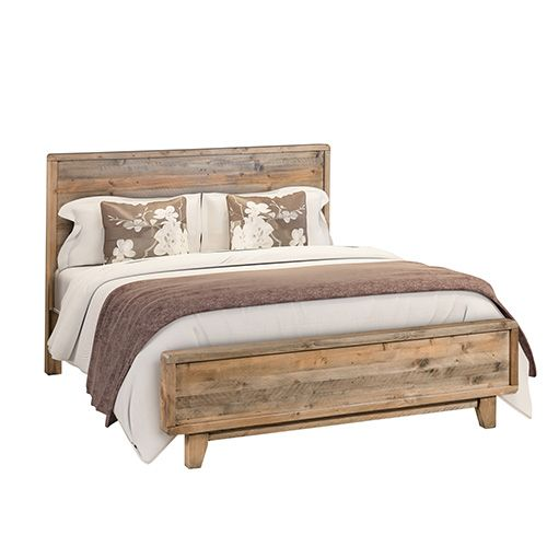 WILLOW Light Brown Queen Bed Frame