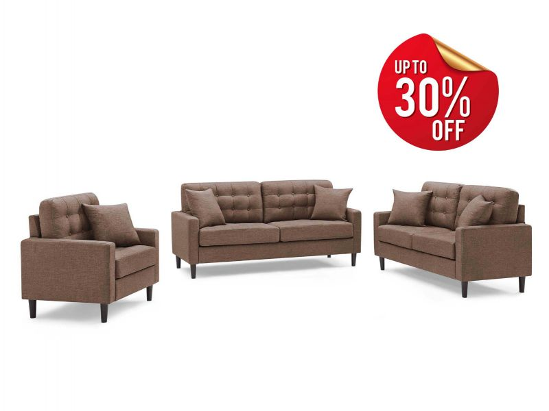 Eden 3+2+1 Sofa Set